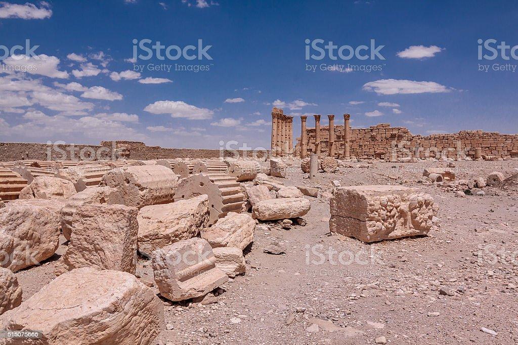 The ruins of Palmyra, Syria stock photo