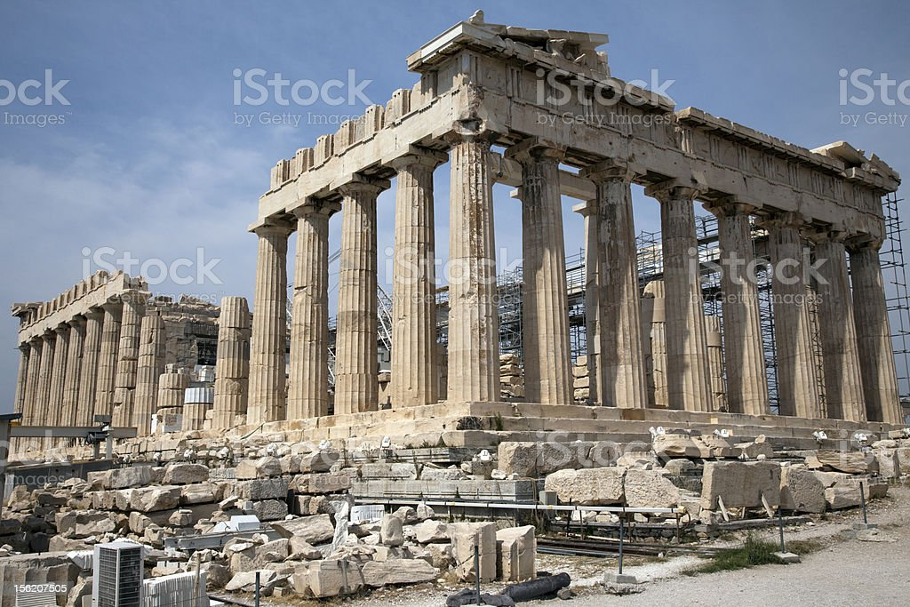 The ruins of Parthenon. Athens Greece royalty-free stock photo