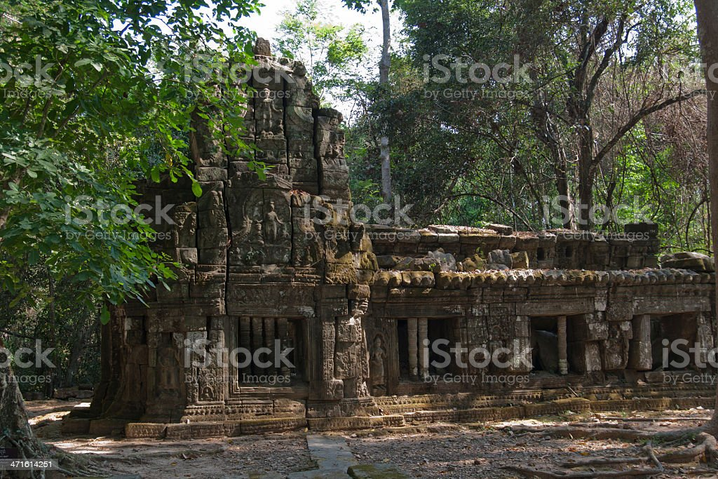 The ruins of small temple in Angkor Wat royalty-free stock photo