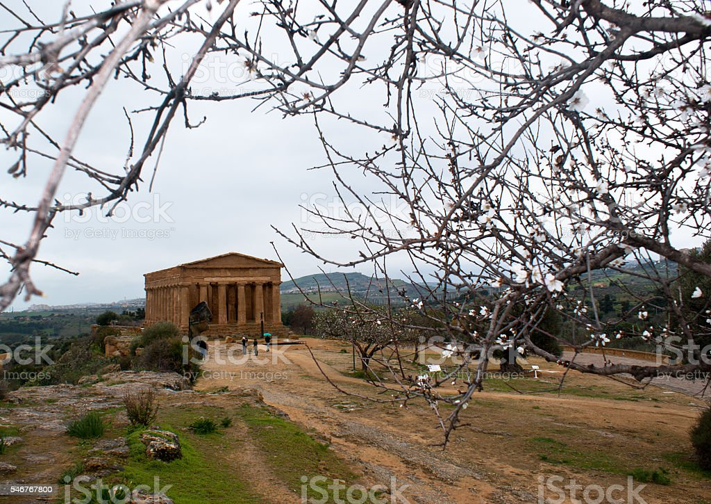 The ruins of Temple of Concordia, Agrigento stock photo