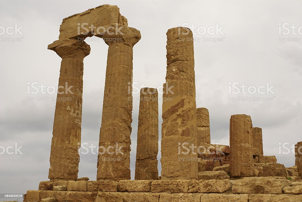 The ruins of Temple of Concordia, Valey of temples, royalty-free stock photo