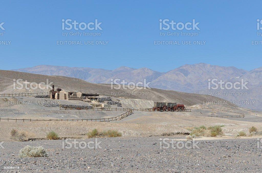 The ruins of the Harmony Borax Works, California stock photo