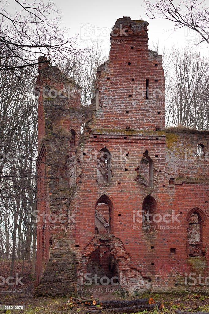 The ruins of the medieval Teutonic castle Balga. stock photo