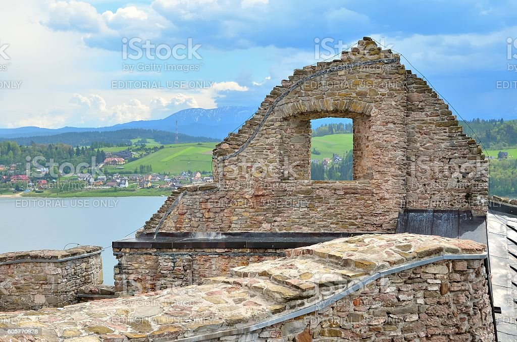 The ruins of the old castle. stock photo