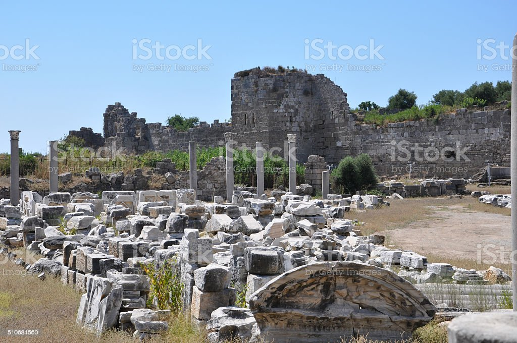 the ruins of the Thermae stock photo