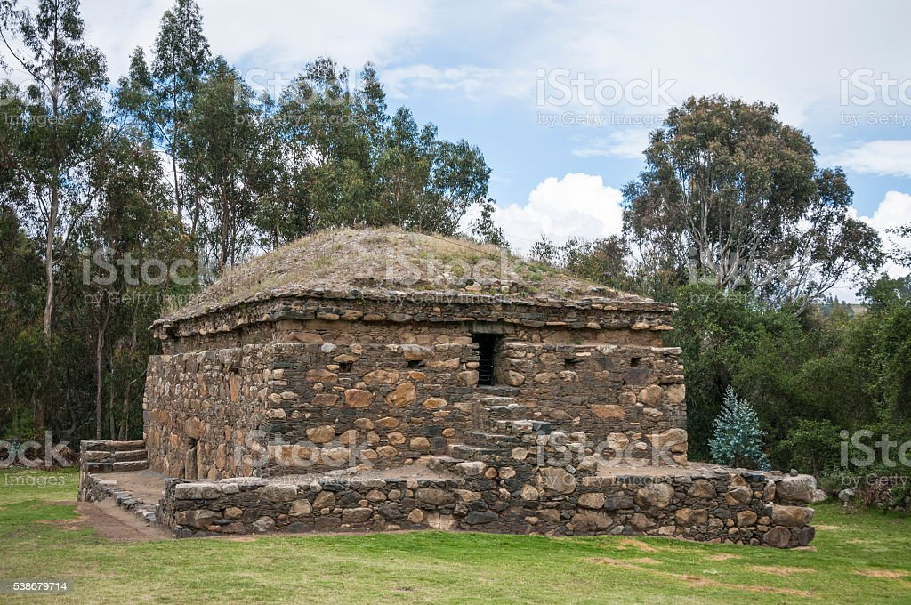 The Ruins Of Wilcawain In Huaraz, Peru stock photo