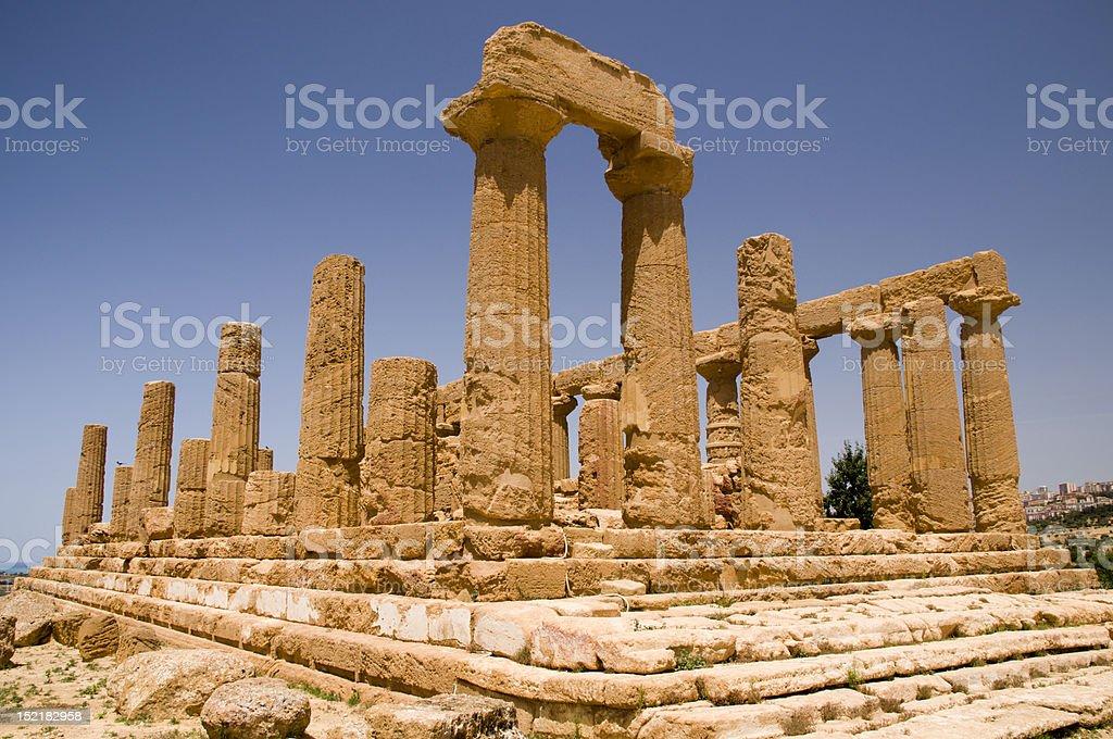 The ruins Temple of Hera (Juno) Lacinia stock photo