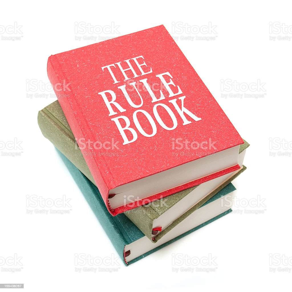 The Rule Books isolated on white background stock photo