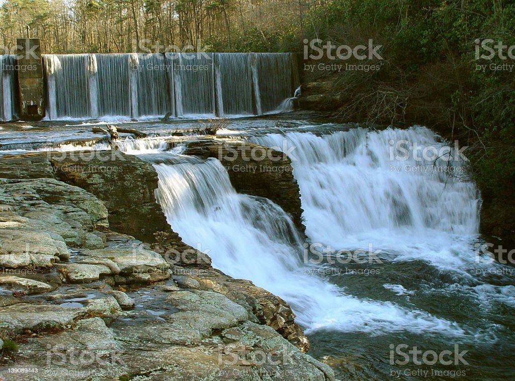 The Running Water. stock photo