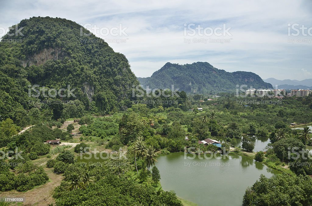 The rural view of Tambun, Ipoh, Malaysia stock photo