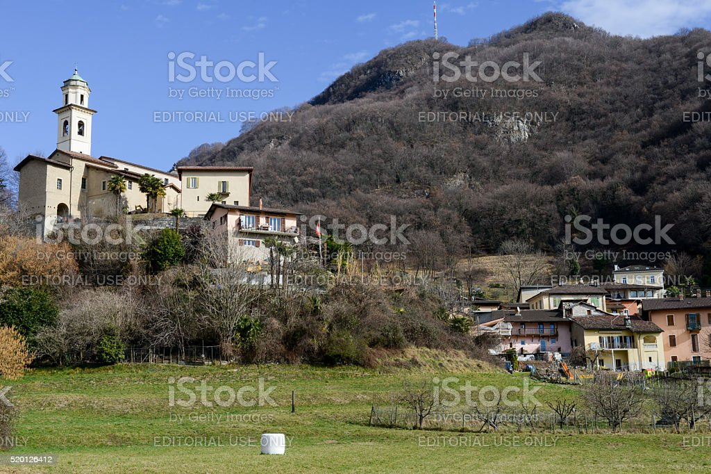 The rural village of Carabbia, Switzerland stock photo