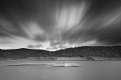 The Rursee in Black and White with a long exposure.