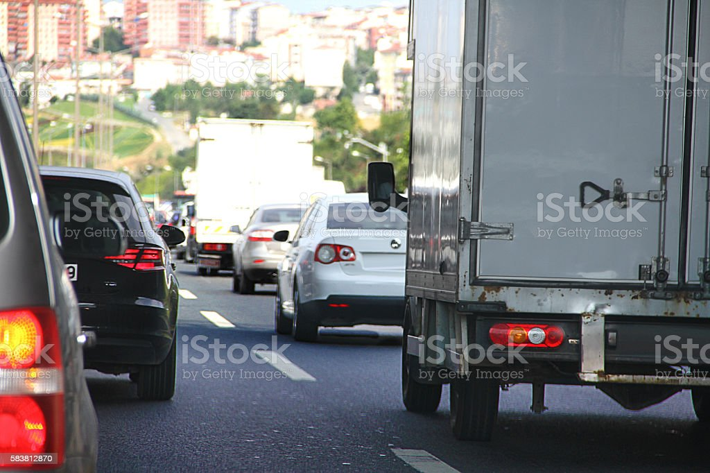 The Rush Hour Traffic foto de stock libre de derechos