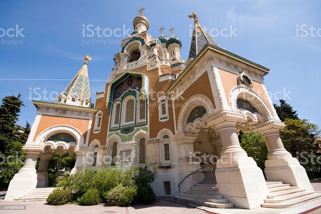 The Russian Cathedral in Nice France royalty-free stock photo