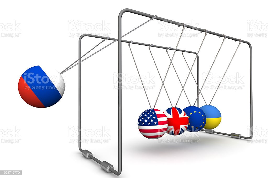 The Russian Federation as a factor in the dynamics of geopolitics stock photo