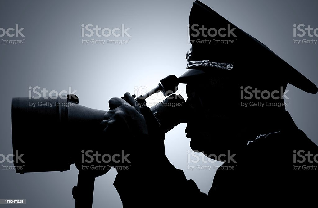 The Russian militarian royalty-free stock photo