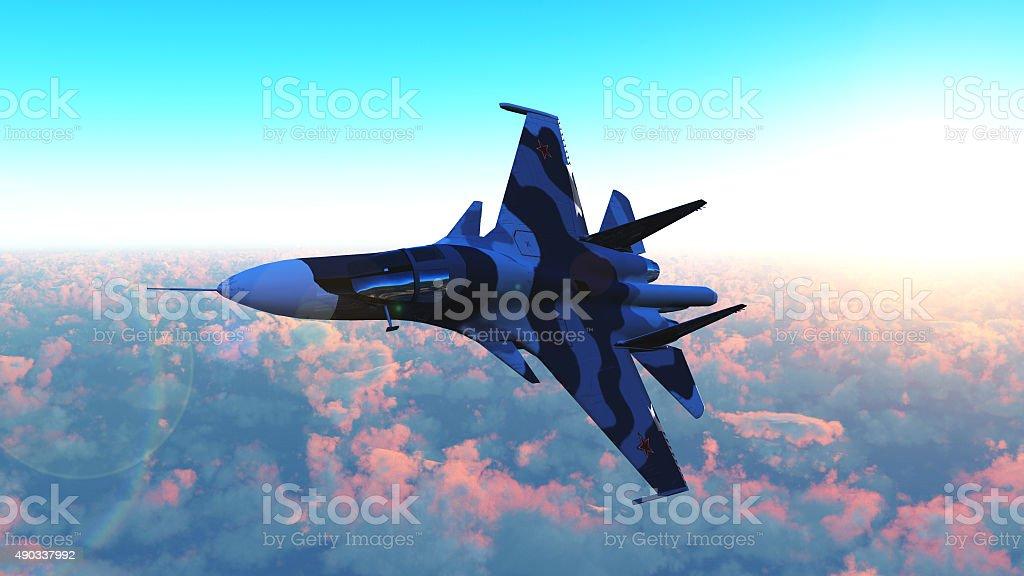 The Russian warplane stock photo