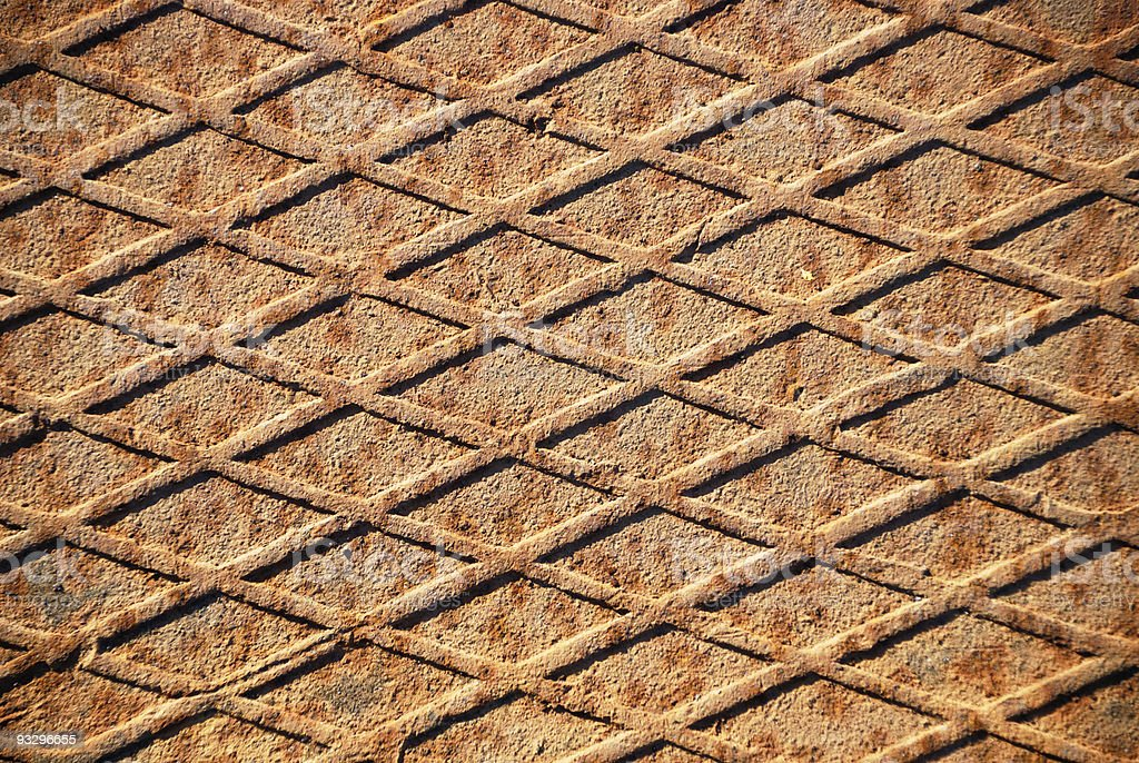 The rusty grunge metal background royalty-free stock photo