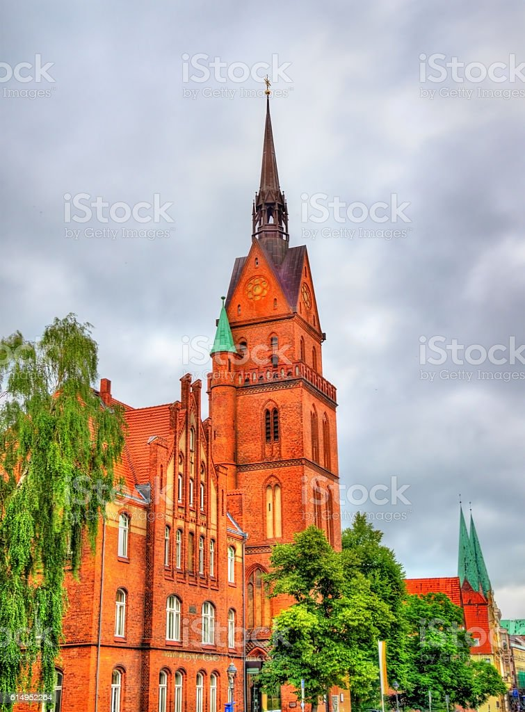The Sacred Heart Church in Lubeck, Germany stock photo