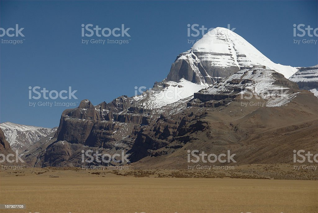 The Sacred Mount Kailash (Gang Rinpoche, Tibet) stock photo