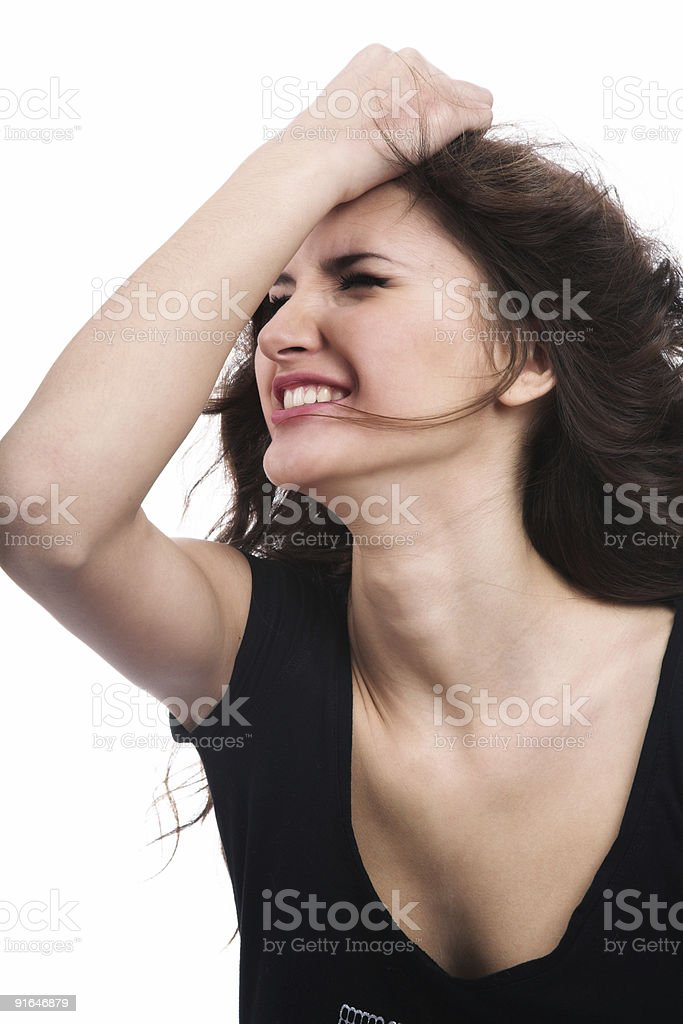 The sad girl royalty-free stock photo