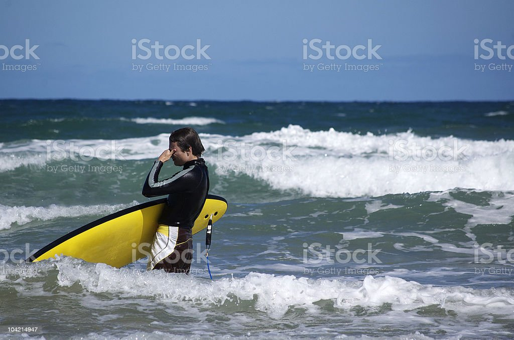 The Sad Surfer royalty-free stock photo