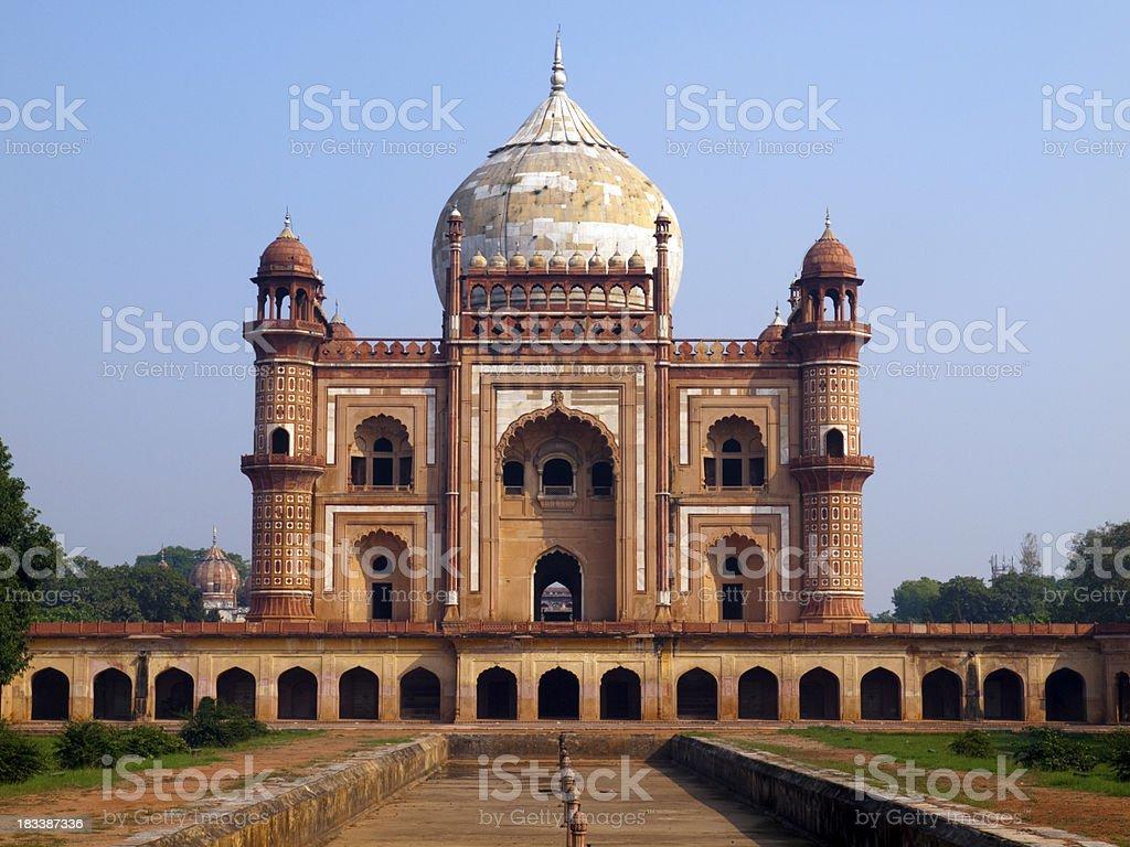 The Safdarjang Tomb in Delhi, India royalty-free stock photo