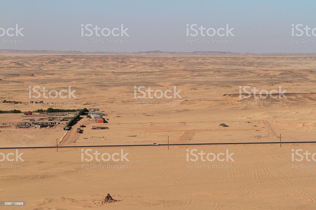 The Sahara desert in Sudan stock photo