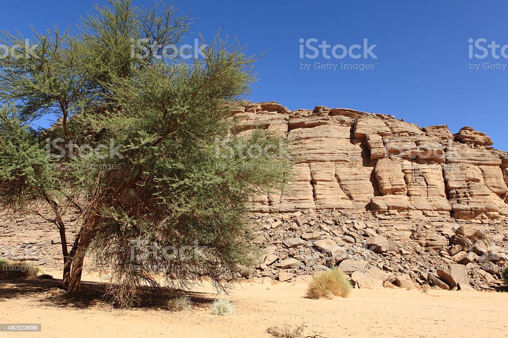 Die Sahara in Algerien stock photo