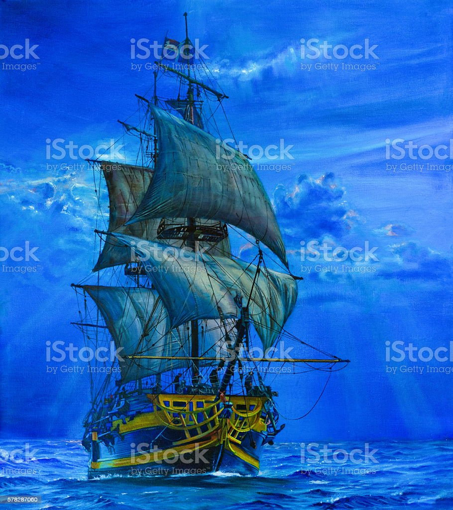 The Sailing Ship. stock photo