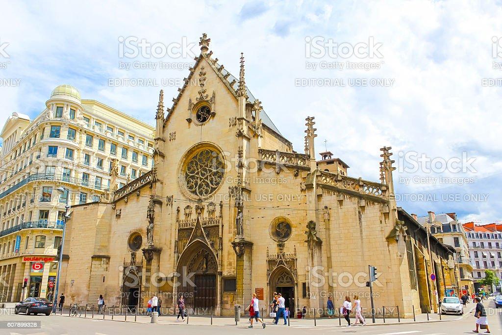 Lyon, France - June 16, 2016:The Saint-Bonaventure church stock photo