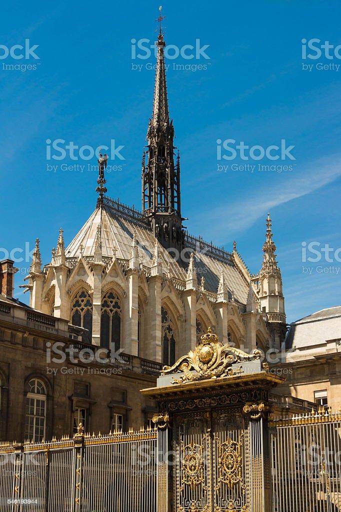 The Sainte Chapelle, Paris, France. stock photo