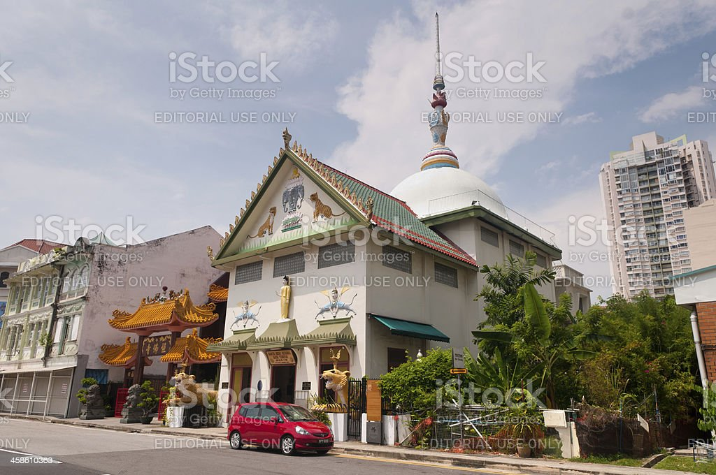 The Sakya Muni Buddha Gaya Temple stock photo