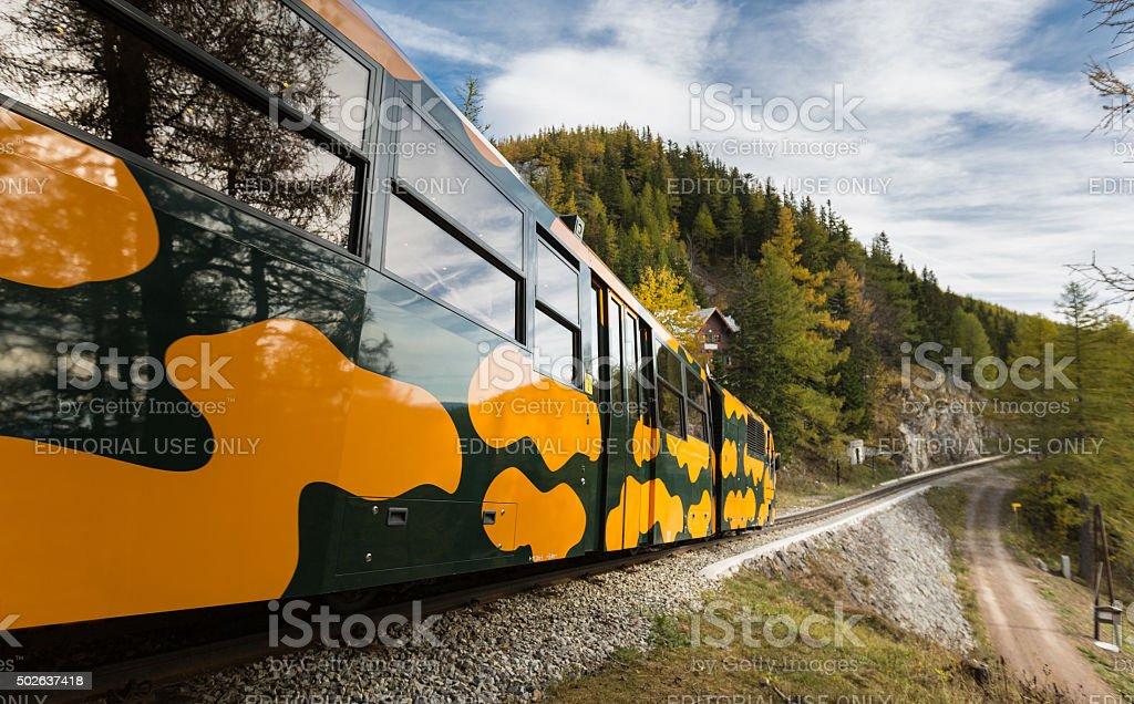 The Salamander Cog Railroad, Austria stock photo
