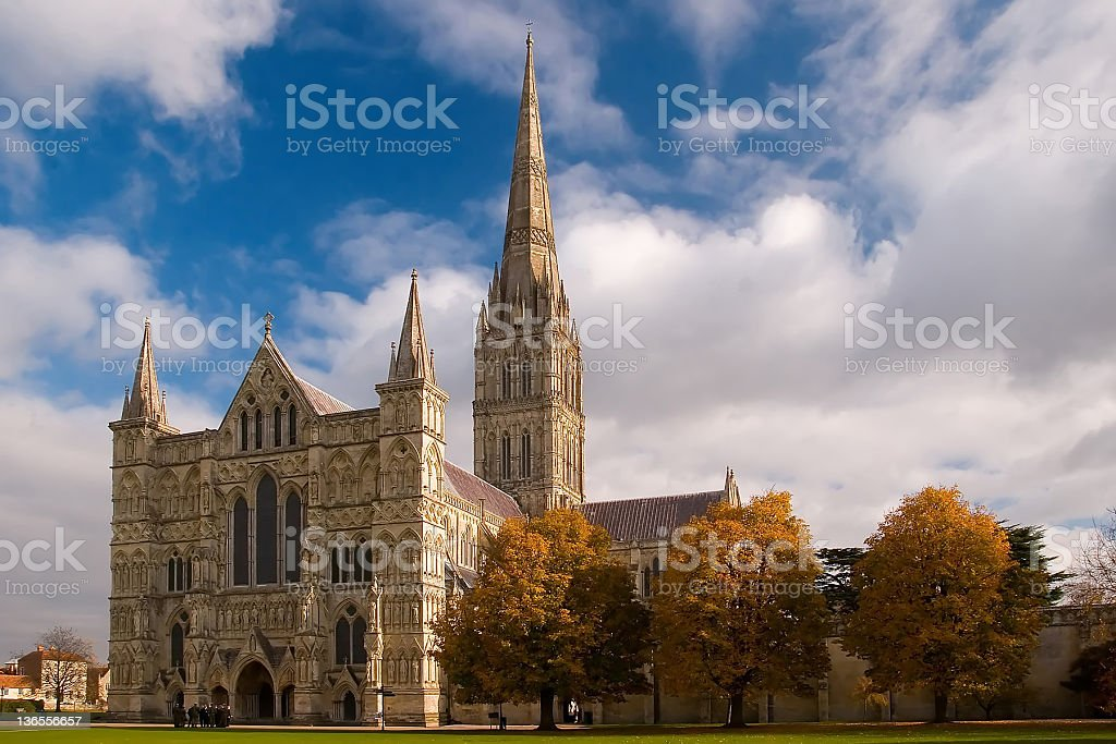 The Salsberry cathedral with sky in background stock photo