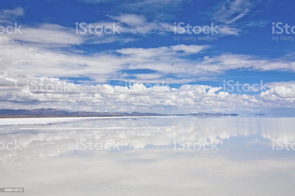 The salt desert of Uyuni stock photo