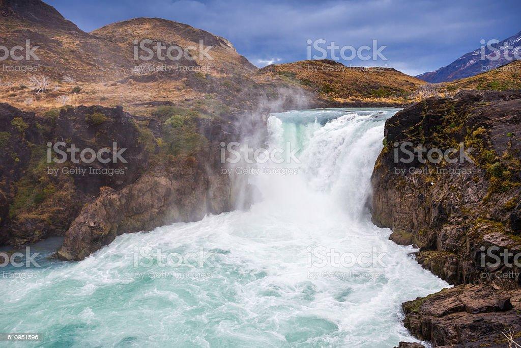 The Salto Grande Waterfall stock photo