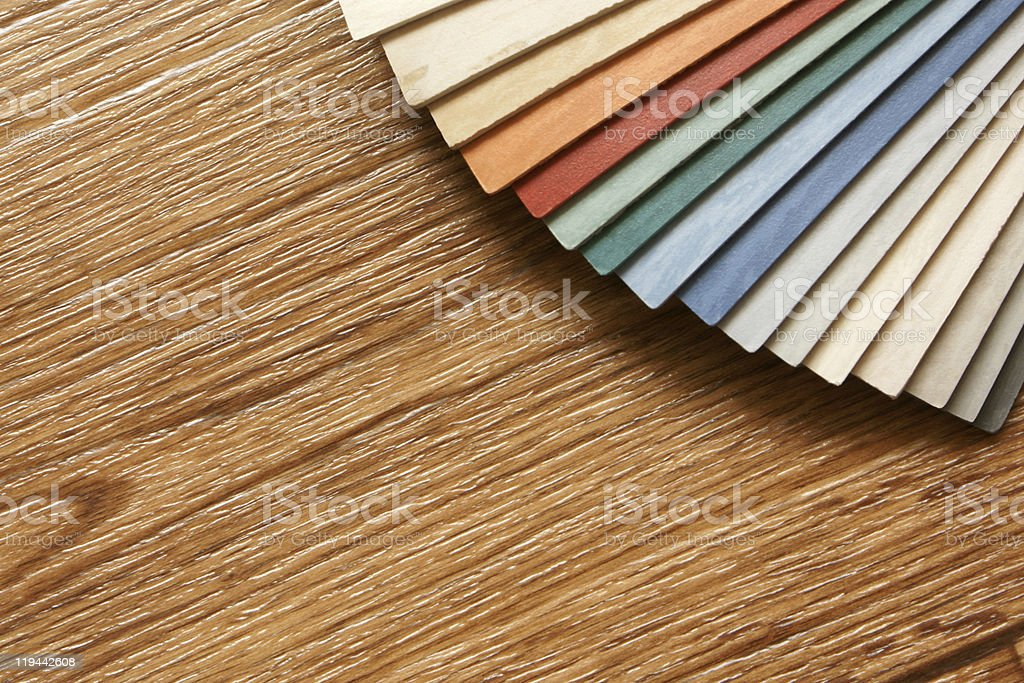 The samples of collection linoleum royalty-free stock photo