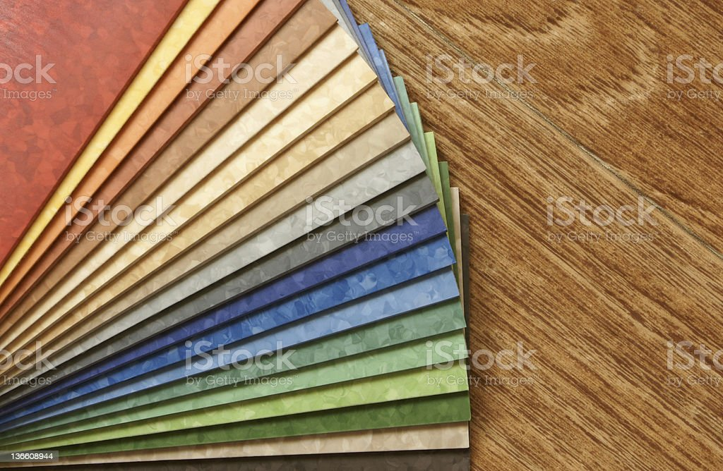 The samples of collection linoleum stock photo