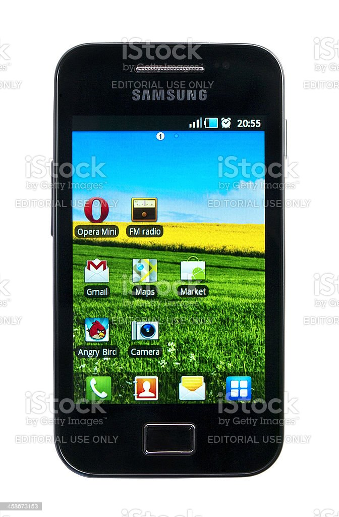 The Samsung Galaxy Ace S5830 royalty-free stock photo