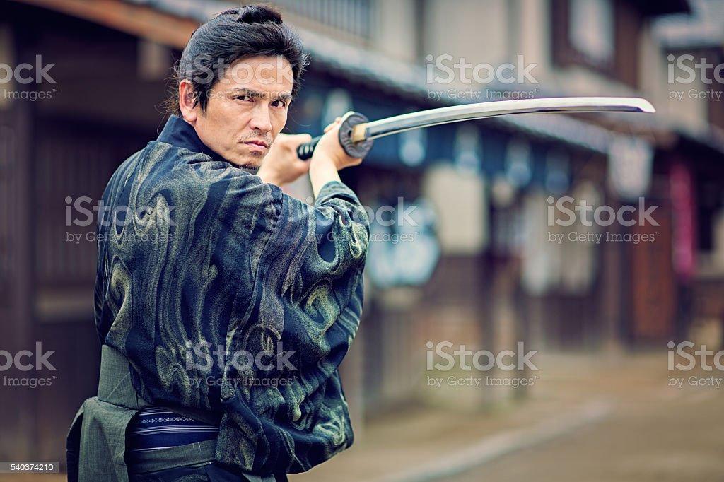 The Samurai stock photo