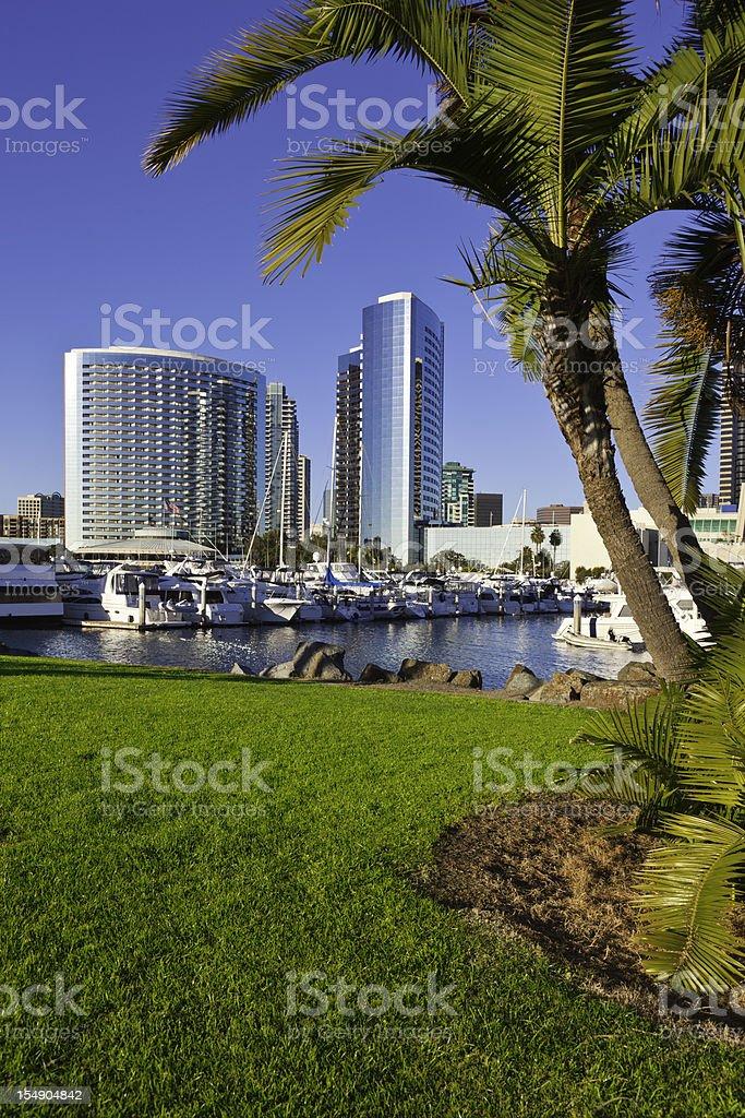 The San Diego Skyline in California stock photo
