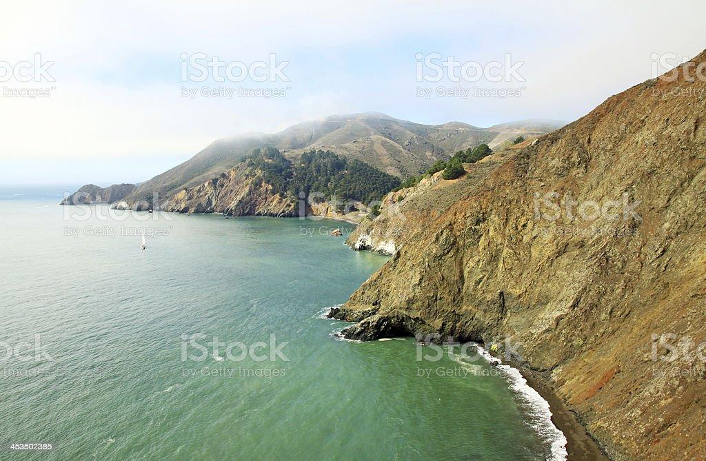 The San Francisco bay landscape royalty-free stock photo