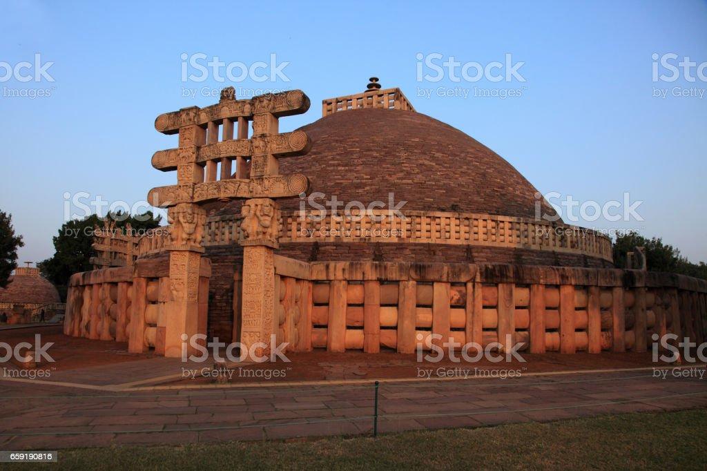 The Sanchi Stupa stock photo