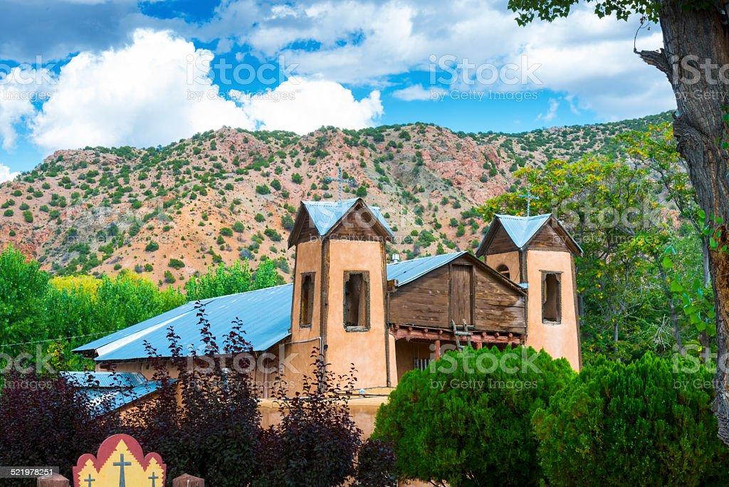El Santuario de Chimayo New Mexico stock photo