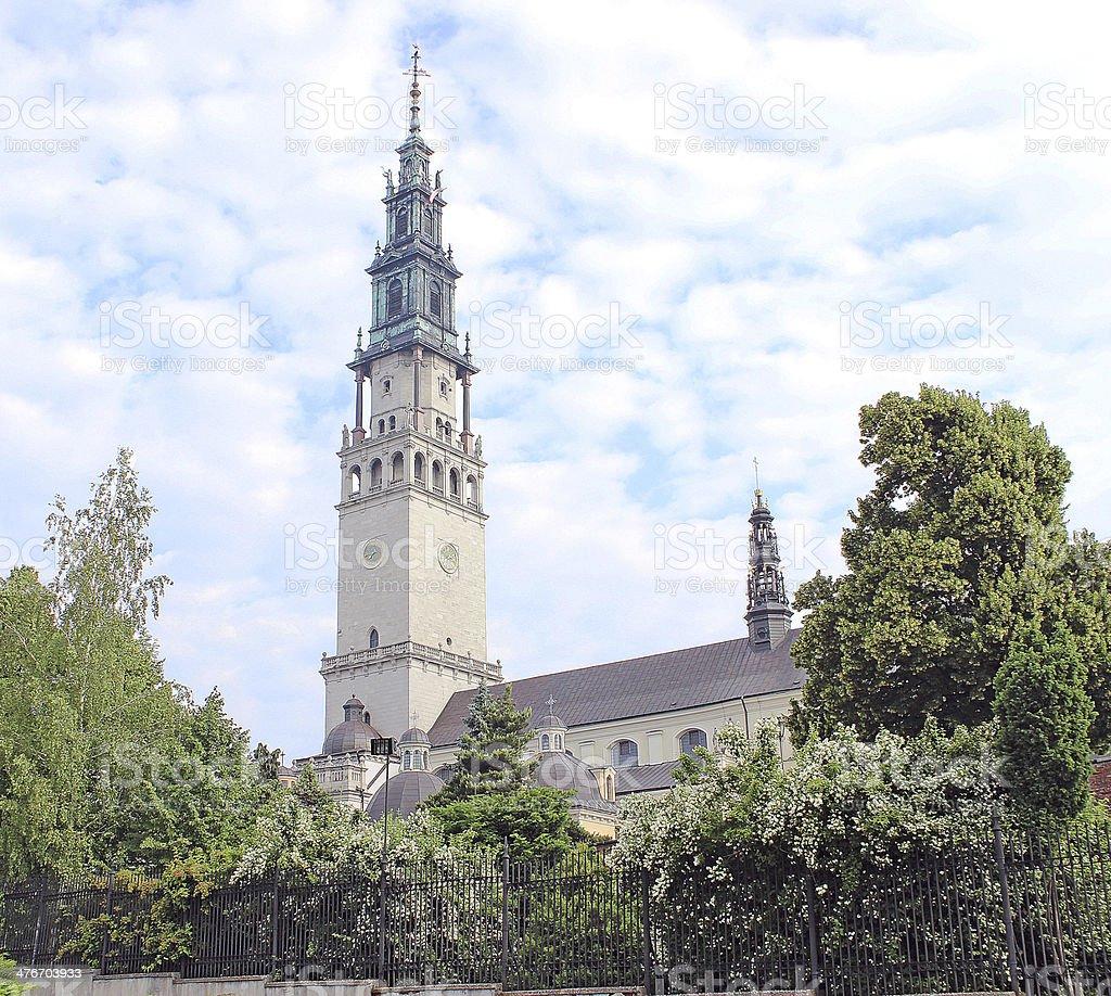 The sanctuary of Jasna Gora in Czestochowa stock photo