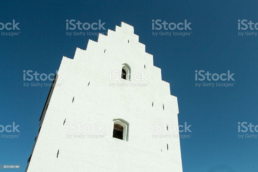The Sand Covered Church, Skagen, Denmark stock photo