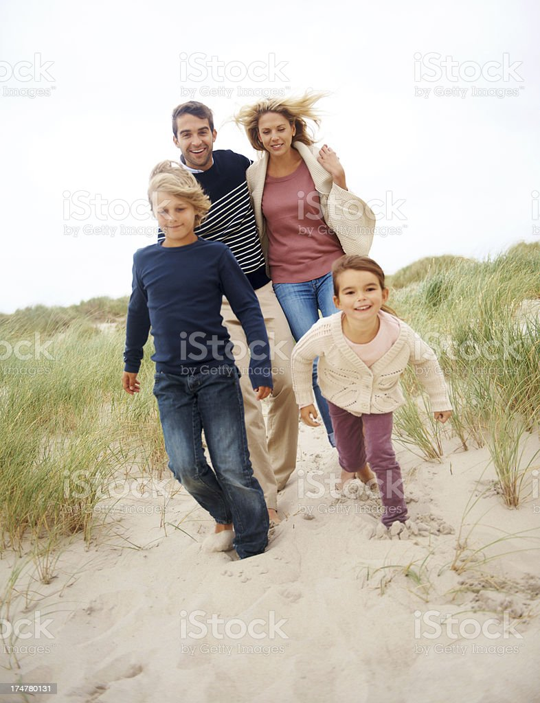 The sand feels great underneath my feet royalty-free stock photo