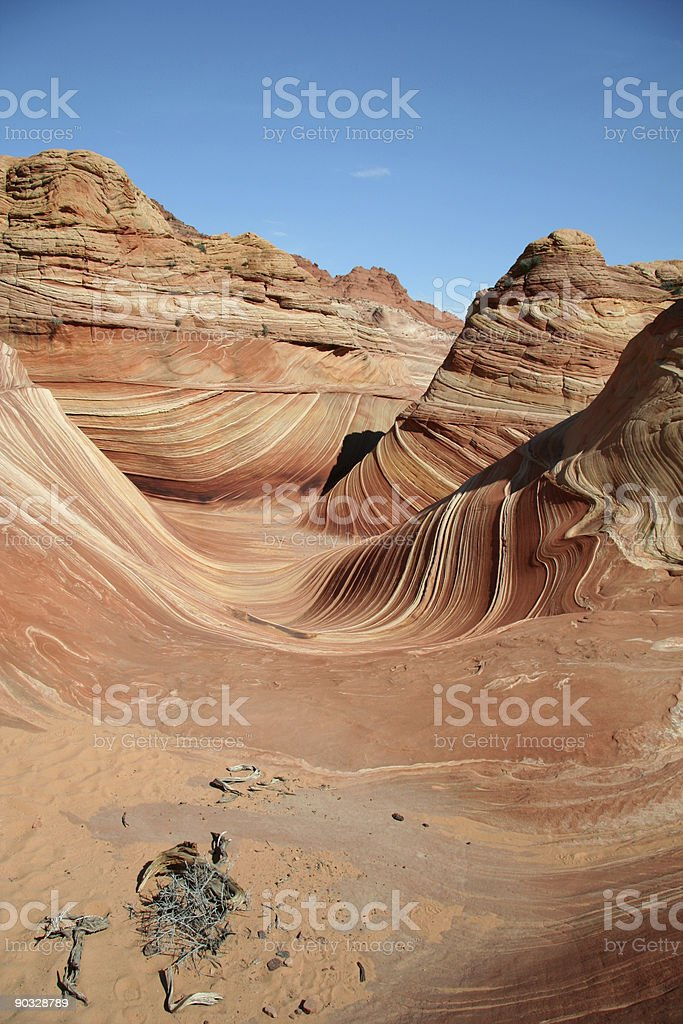 The Sandstone Wave royalty-free stock photo