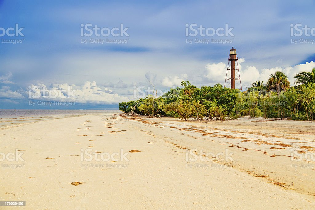 The Sanibel Island Light stock photo